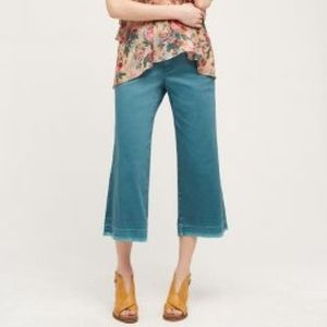 Pilcro Cropped Wide Leg Chinos